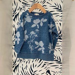 Crewcuts Faded Indigo Floral Sweatshirt 4/5